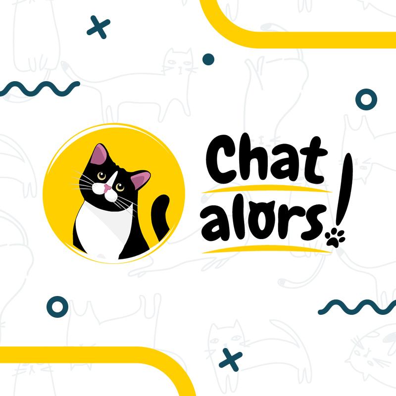Chat Alors – Logo comportementaliste